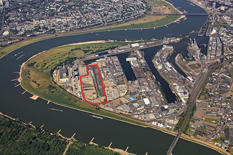 Das Gelände im Düsseldorfer Hafen. Foto: NDH