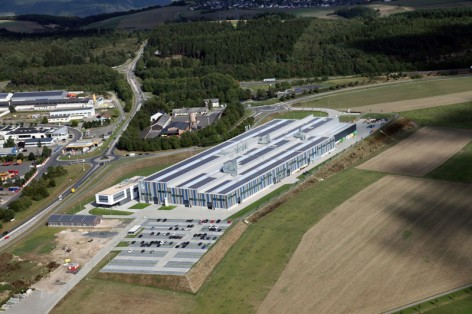 Aerial view of the new SCHOTTEL plant