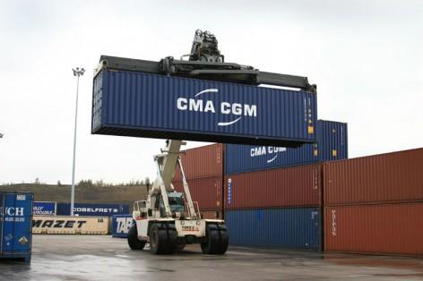 A CMA CGM container