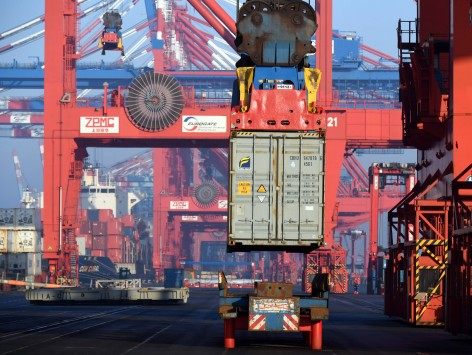 Container Terminal Bremerhaven 15.2.17 Foto Scheer