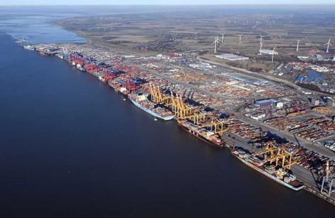 Container Terminal Bremerhaven 6.1.17 Luftfoto Scheer