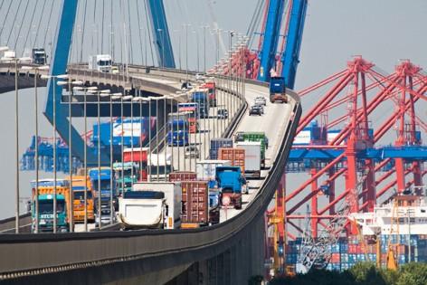 KšhlbrandbrŸcke / Logistik /logistic
