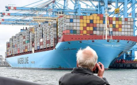 Maerskline containerschip