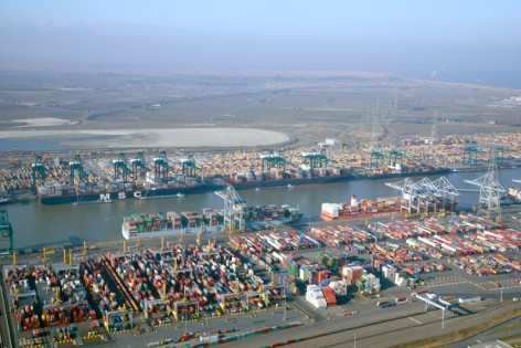 Container terminals at Deurganckdock