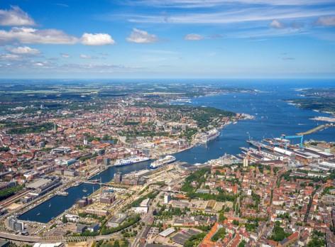Port of Kiel aus der Luft